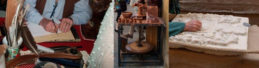 Artesanos de la época medieval