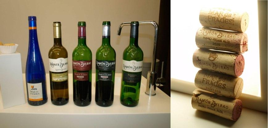 Muestra de vinos seleccionados para la cata
