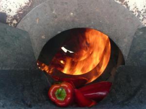 Asado en horno de leña