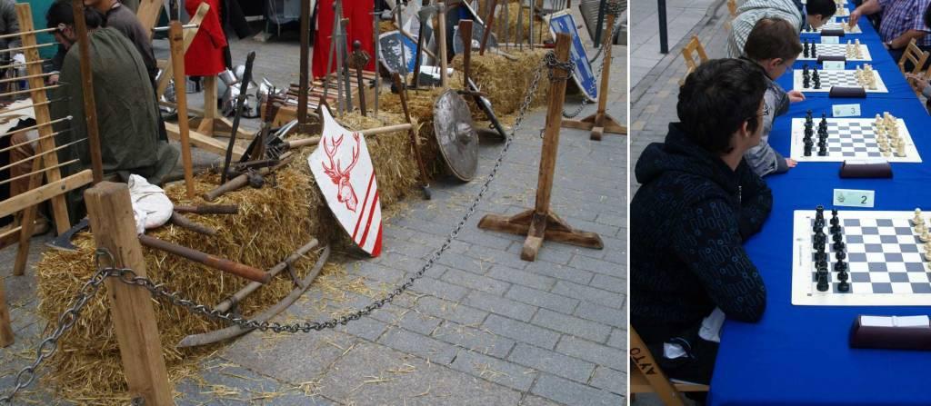 Muestra de armas de la época y torneo de Ajedrez