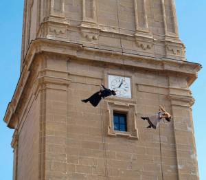 Baile en la torre de la catedral