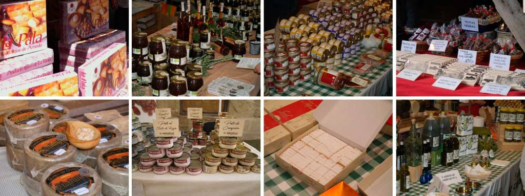 Muestra de productos riojanos en el Mercado del Camino