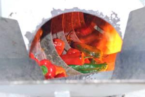 Tradición riojana, el asado de pimientos
