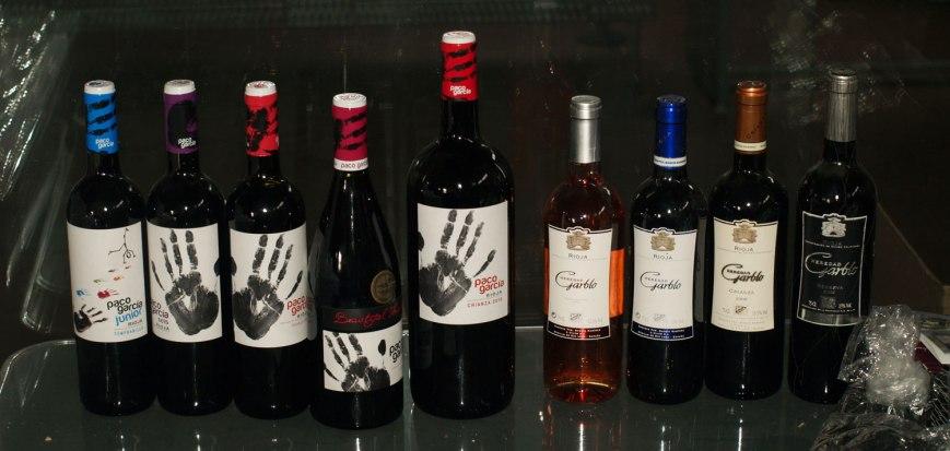 Colección de vinos Paco García