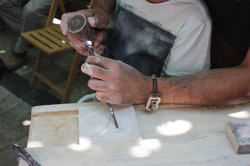 Taller-de-cantería,-artesanía